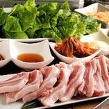 菰錦豚のサムギョプサル、厳しい条件を満たした最高級豚です。