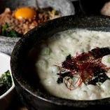 アオサと韓国海苔の石焼きクリームパスタ