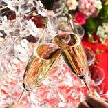[充実の貸切無料特典] W2次会では乾杯用シャンパンなど特典満載!