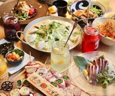 炭火野菜巻き串と餃子 博多 うずまき 長崎思案橋店  コースの画像