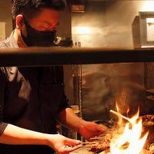 炭火焼きの香りと焼き加減!熟練の技