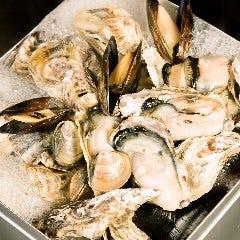 本場漁師料理!!!立川初??産直!!殻付牡蠣と蛤のガンガン蒸し