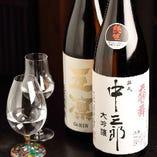 日本酒は、石川県内の酒蔵のものを料理に合わせて