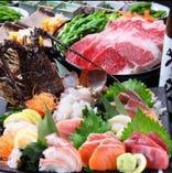 究極な鮮度の味と豪華な盛り付けで別格なコース料理に!