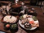 2名様からご予約で楽しめる「うどんすき鍋」