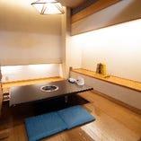 洗練された掘りごたつ席個室(~4名様×8部屋)