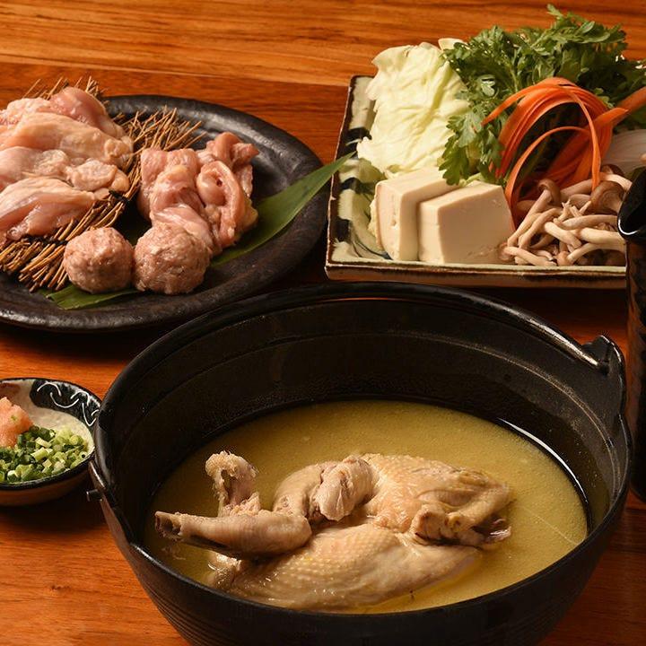 絶品鍋!!濃厚・白濁鶏スープの水炊き