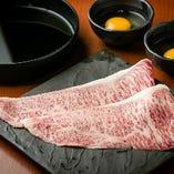 松阪牛の特上すき焼き風(1枚)