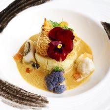 現代フランス料理をコースで堪能。