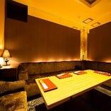 少人数から利用可能な完全個室を完備