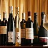赤/白/スパークリング各5種のワインを日替わりでラインナップしております。