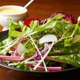 産地直送の旬野菜でお作りする『シンプルグリーンサラダ』