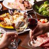 ワインを片手に皆さまで賑やかなひと時をお過ごしください♪