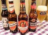スペインやイタリアのビール・シードルを取り揃えております。