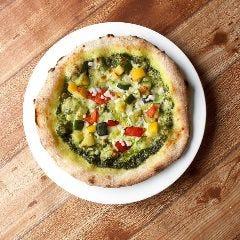 彩り野菜とモッツァレラチーズの淡路産バジルソース