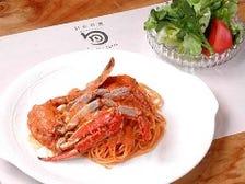 【人気】渡り蟹のクリームスパゲティ