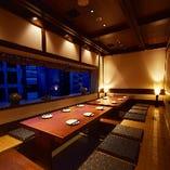 窓際の宴会個室
