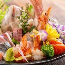 漁港直送鮮魚などご当地料理◎