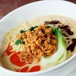 コースの〆に最適な担々麺は、温かいものと冷たいものをお選びいただけます。