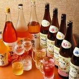 甘くて飲みやすい果実酒も充実。女性に人気のお酒を揃えています♪