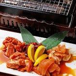 地鶏のホルモン 自家製タレ焼き