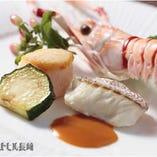 長崎近海の海の幸を使った料理も