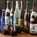 日本酒・焼酎も多彩に取り揃えております