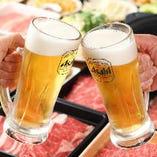 キンキンに冷えた生ビールご用意しております!
