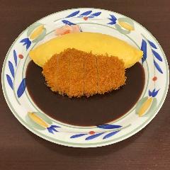ビーフカツデミグラスソースオムライス
