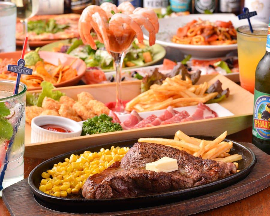 【2時間飲み放題付】ステーキコース〈全7品〉|宴会・パーティ