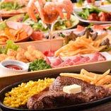 ホームパーティー気分で味わえるコース料理が勢ぞろい!
