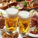 絶品餃子には、まずはビールで乾杯を☆