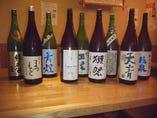 こだわりの日本酒ドンドン入れ替わります!