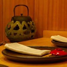 ◆器・空間にもこだわる日本料理