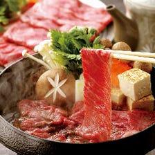 和牛すき焼き鍋コース(鍋+4品付)