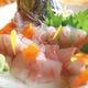 旬の鮮魚の姿盛り。