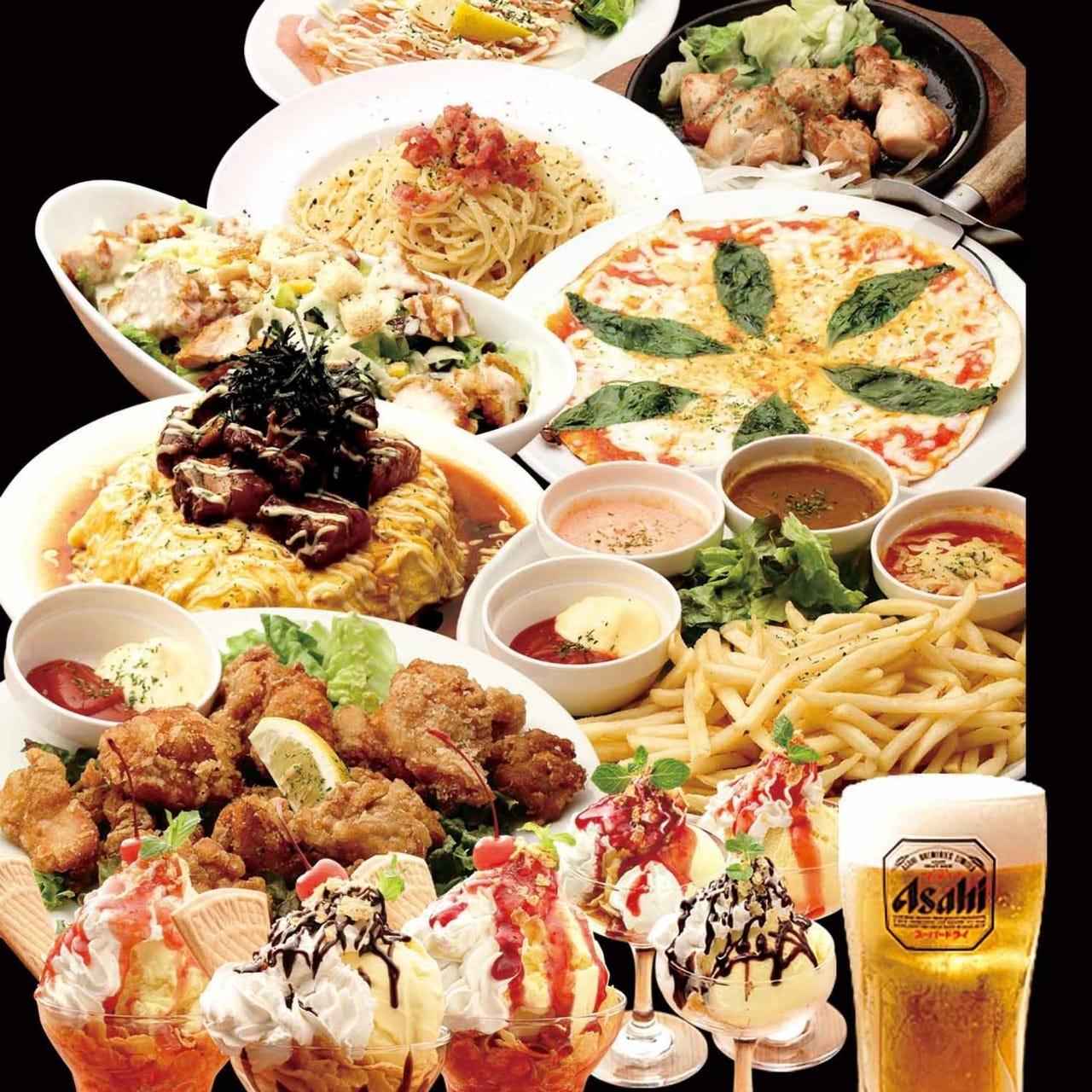 食べ放題×飲み放題コース3000円+税
