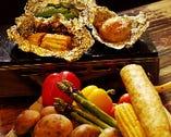 新鮮野菜のホイル焼き各種 各380円