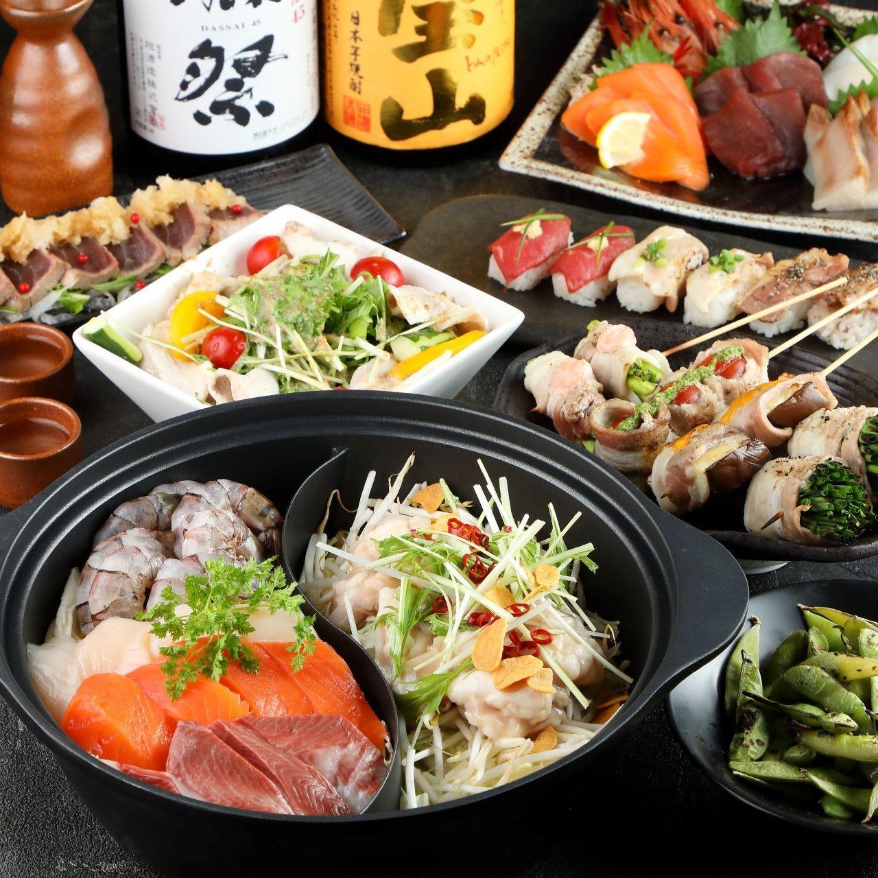 新札幌駅◆全席個室◆肉・海鮮の素材を活かした創作和食!