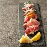 肉寿司5種盛り合わせ 一貫