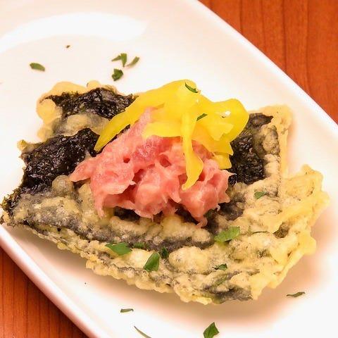 和と洋が融合する創作天ぷら料理