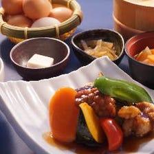 鶏肉とテンペ生姜黒酢あん御膳