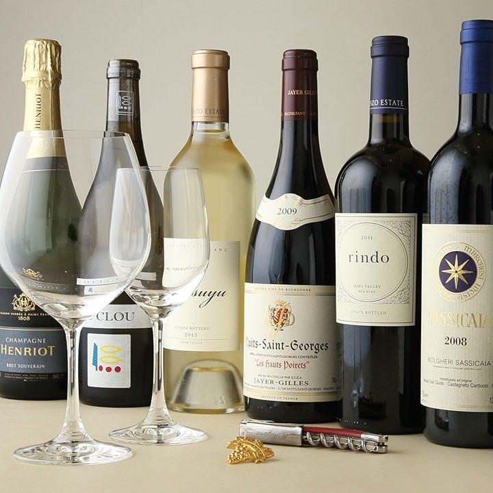 ソムリエが厳選したワインをご用意