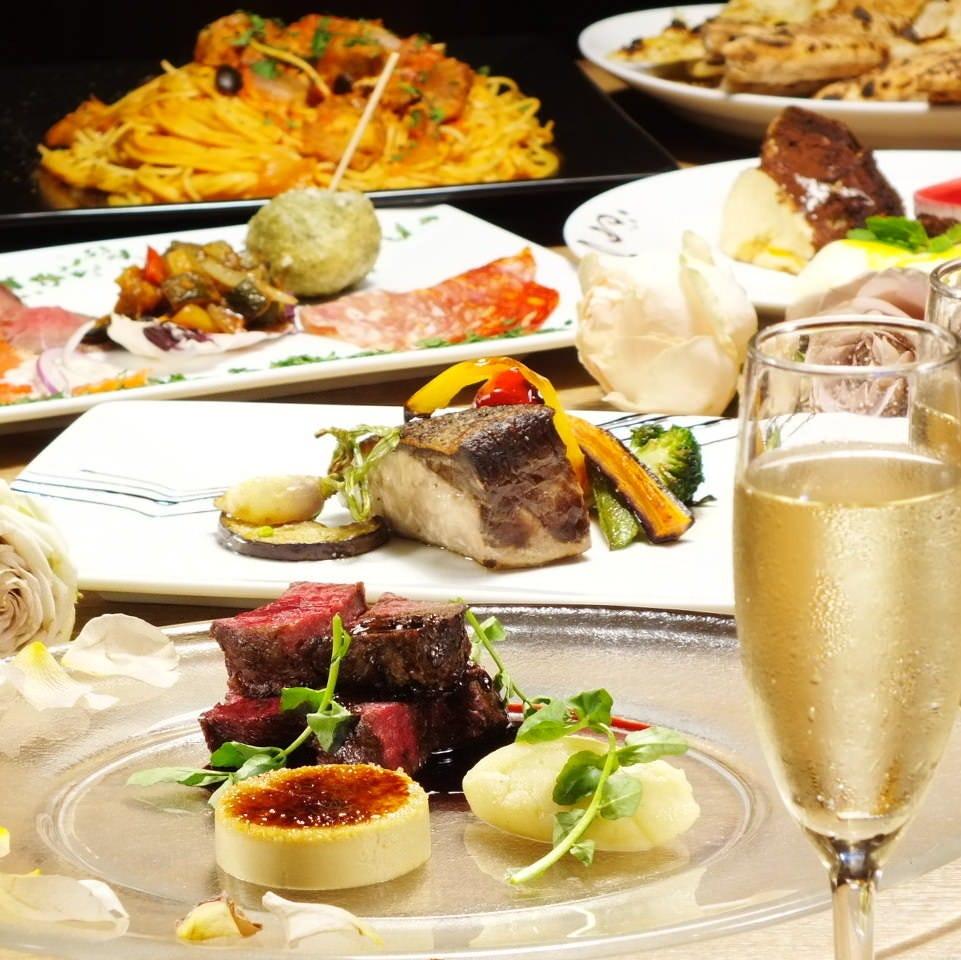 素敵な記念日には本格イタリアンのコースをご用意。