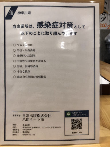 八郎ミート酒場 桜木町野毛  メニューの画像