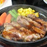 八郎ステーキ(ガーリックソース/おろしポン酢/バター)