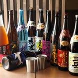 銘柄焼酎は「芋・麦・米・黒糖・泡盛」各種ご用意しております。¥500~