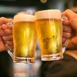 お飲み物は種類充実!お好みのお酒片手に乾杯!
