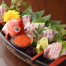 【豪華】産直鮮魚五点盛り