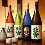 佐渡の日本酒。県外不出の現地でしか呑まれないものもご用意。